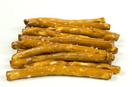 Macro shot of salted pretzel sticks
