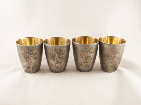 the gilding: Silver glass Stock Photo