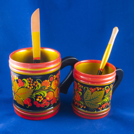folklore: 2 folklore cups Stock Photo