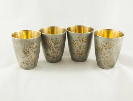 the gilding: Silver glasses