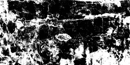 Distressed background in black and white texture with dark spots.