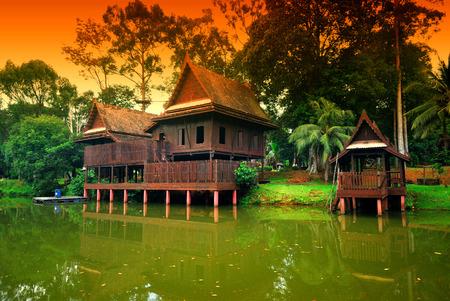 traditonal: Mini Malaysia and ASEAN Cultural Park, Malacca, Malaysia. Stock Photo
