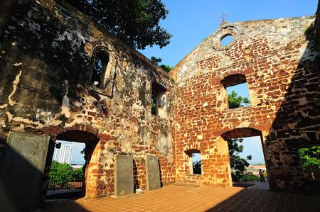 st pauls: St. Pauls Church, Malacca, Malaysia.