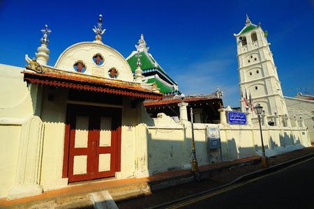 kampung: Kampung Kling Mosque, Malacca, Malaysia.