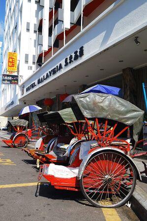 pinang: Trishaw, Georgetown, Penang, Malaysia.