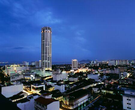 Komtar Tower, Georgetown, Penang, Malaysia.