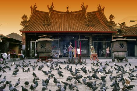 Kong Hock Keong Temple or Kuan Ying Teng Temple Editorial