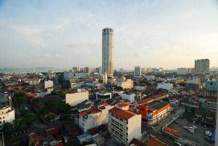 pinang: Komtar Tower, Georgetown, Penang, Malaysia.