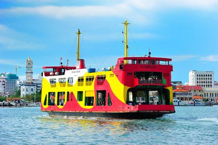 Penang Ferry Service, Penang, Malaysia. 에디토리얼