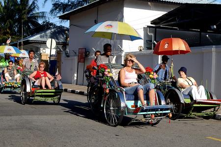 trishaw: Trishaw Ride, Georgetown, Penang, Malaysia. Editorial