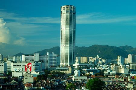 georgetown: KOMTAR Tower, or Menara KOMTAR Complex, Georgetown, Malaysia. Editorial