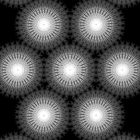 White pattern Design in black background Stock fotó