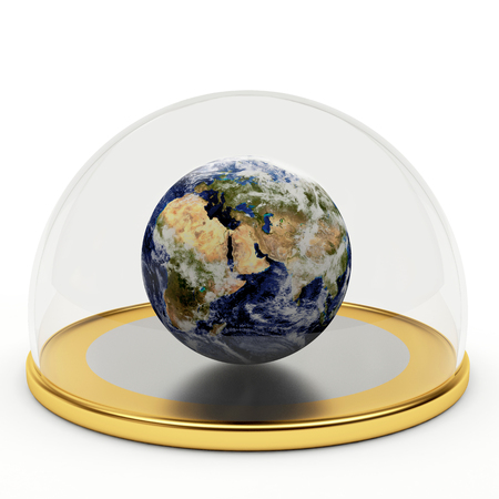 environment issues: Planet earth under the dome.