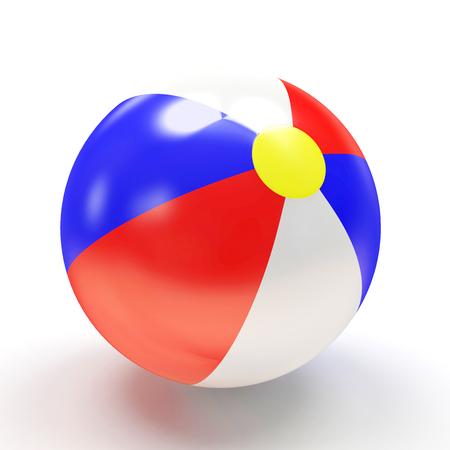 balon de voley: Pelota de playa aislada en el fondo blanco