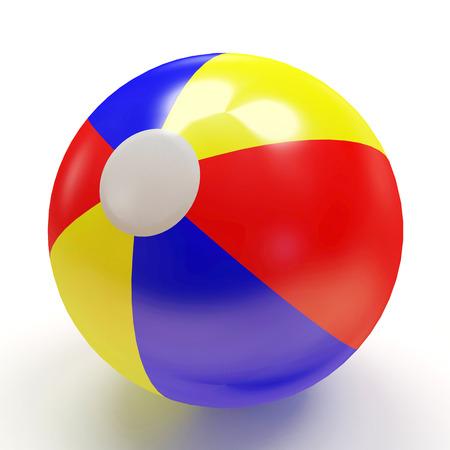 balon voleibol: Pelota de playa aislada en el fondo blanco