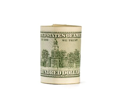 pack of dollars of the USA on a white background Standard-Bild