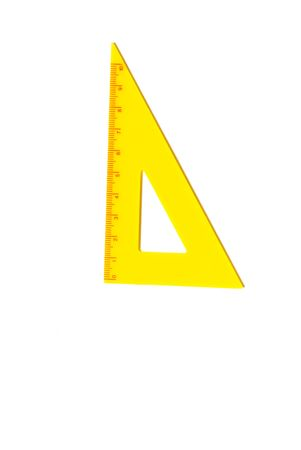Set Square on White Background
