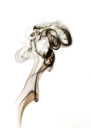 abstract figure from smoke on the isolated background Stock Photo