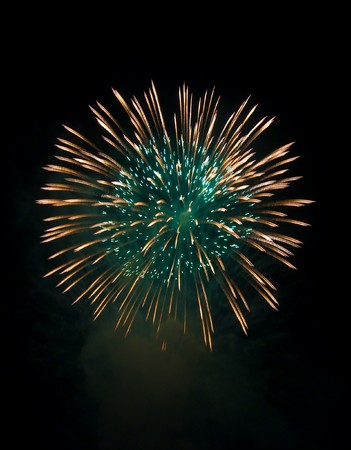large festive firework on a black background