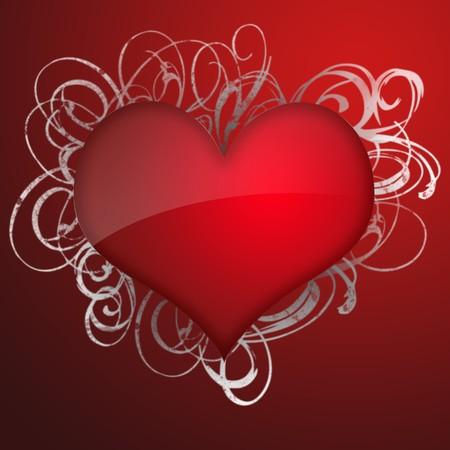 Celebratory illustration with heart