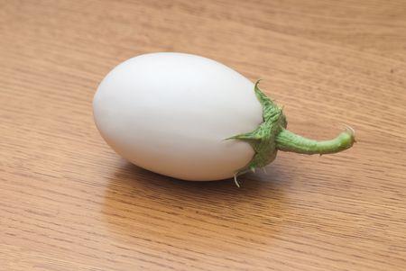 white egg-plant on the white isolated background Stock Photo