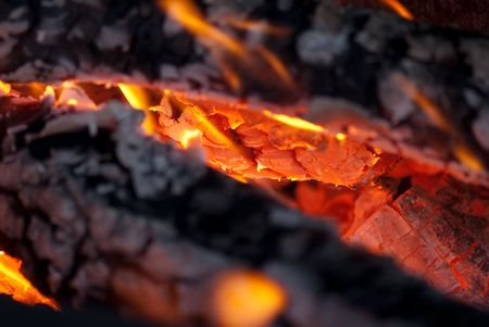background from a fire, conflagrant firewoods and coals Stock Photo - 5872697