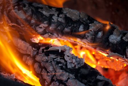 background from a fire, conflagrant firewoods and coals Stock Photo - 5872637