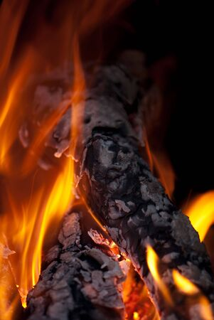 background from a fire, conflagrant firewoods and coals Stock Photo - 5942759