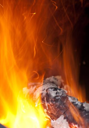 background from a fire, conflagrant firewoods and coals Stock Photo - 6032549