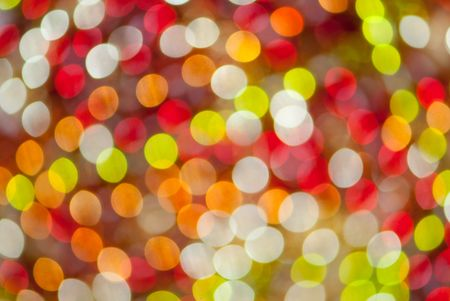 defocused abstract background of color night holiday lights  Stock Photo