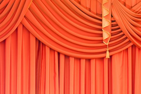 curtains in a classic style as an adornment interiors Stock Photo