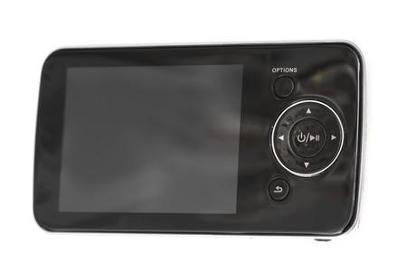touchscreen multimedia smartphone on a white background. studio. photo