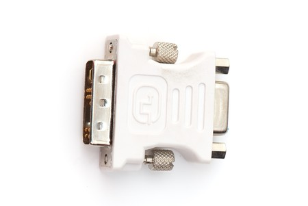 dvi: tech adapter  isolated on a white background.