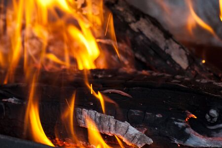 background from a fire, conflagrant firewoods and coals Stock Photo - 7969940