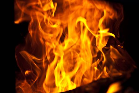 background from a fire, conflagrant firewoods and coals Stock Photo - 7969894