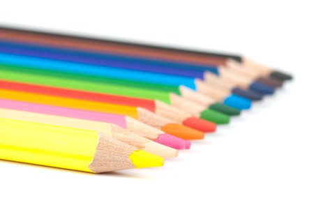 colored pencils isolated on a white background. studio. picture.