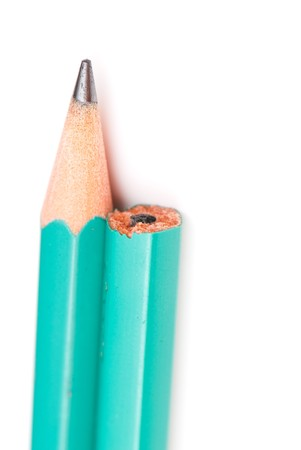 not wooden pencil isolated on a white background. studio. picture.