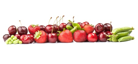 fresh ripe Berries photographed closeup isolated on a white background. photo