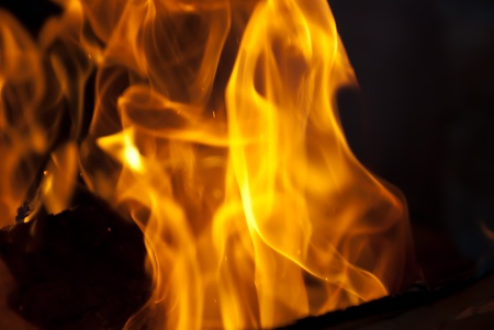 background from a fire, conflagrant firewoods and coals Stock Photo - 9273030