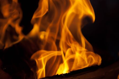 background from a fire, conflagrant firewoods and coals Stock Photo - 9271270