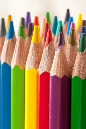 color pencils isolated on a white background. Studio. Picture.