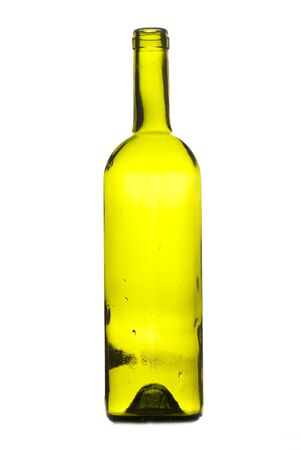 unlabeled: wine bottle isolated on white background.  Studio photo