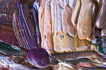 Artists oil paints multicolored closeup abstract background Stock Photo