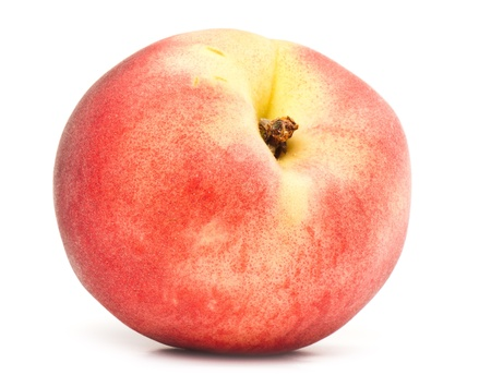 composition of ripe juicy peach,  nectarine isolated on white background