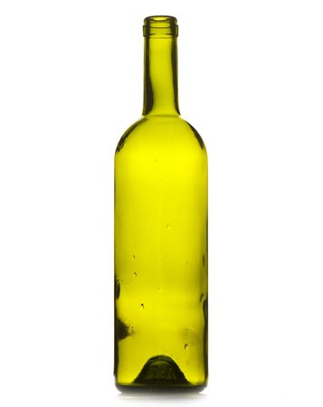 wine bottle isolated on white background.  Studio photo