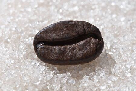 background from the grains of Brazilian coffee and sugar Stock Photo - 12587954