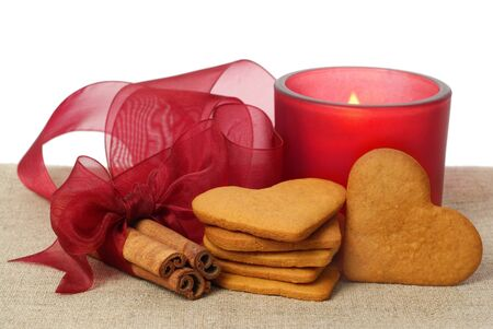 ginger snap, cinnamon and candle photo