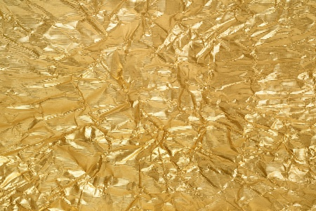 artistic background from golden foil