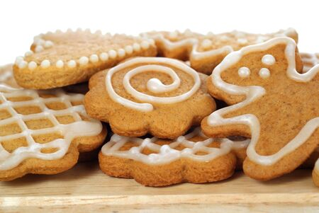 christmas gingerbread on white background Stock Photo - 10651796
