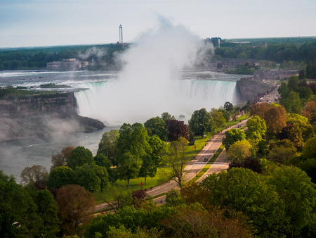 gallons: Niagara Falls View from Canadian side Stock Photo